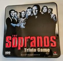 The Sopranos Trivia Adult Board Game Collectible Metal Tin 2004 Cardinal - $12.85