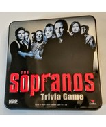 The Sopranos Trivia Adult Board Game Collectible Metal Tin 2004 Cardinal - $12.85