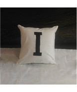 "12"" X 12"" Hand painted Personalized WHITE Cotton Pillow Sham - $19.99+"