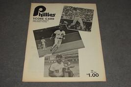1984 Philadelphia Phillies vs Cincinnati Reds Spring Training Scorecard - $12.00