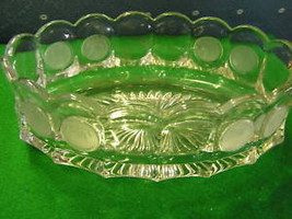 Beautiful FOSTORIA Coin Clear Glass OVAL BOWL..... - $21.38