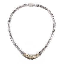 John Hardy Sterling Siver Chain 18k Gold Dot Choker Necklace - $640.00