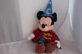 "NWOT Disney Parks Mickey Mouse Sorcerer Plush Soft Stuffed Doll Toy 14"" Damaged - $18.69"