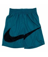 Nike Men's HBR 2.0 Basketball Shorts Big Logo Swoosh Dri-Fit Teal BV9385... - $3,837.00