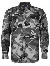 Men's US Military American Long Sleeve Button Up Camo Casual Dress Shirt image 3
