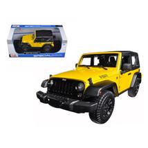 2014 Jeep Wrangler Willys Yellow 1/18 Diecast Model Car by Maisto 31676y - $49.05