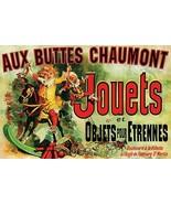 Jouets Aux Buttes Chaumont Jules Cheret 24x36 Poster! - $11.14
