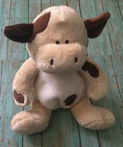 Baby Boyds Cow Lovey Rattle Stuffed Animal Plush Soft Toy Embroidered Eyes HTF - $59.39
