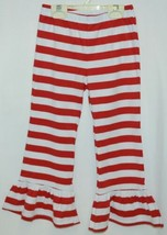 Blanks Boutique Red White Ruffled Pants Cotton Spandex Size 5T image 1
