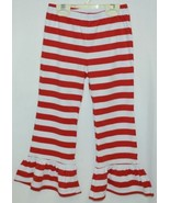 Blanks Boutique Red White Ruffled Pants Cotton Spandex Size 5T - $15.99