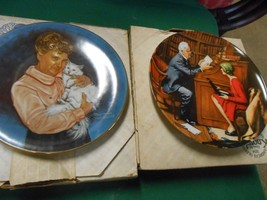 "Great Collection 2 KNOWLES Fine China ""Norman Rockwell"" COLLECTOR PLATES - $15.43"