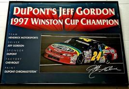 Jeff Gordon Framed 1997 Winston Cup Champion Poster  - $41.14