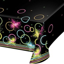 Creative Converting All Over Print Plastic Tablecover, Glow Party - $6.90