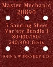 Master Mechanic 211890 - 80/100/150/240/400 Grits - 5 Sandpaper Variety Bundle I - $7.53
