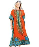 Smithsonian Queen of the Nile Caftan One Size Tangerine - $44.54
