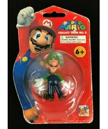 Super Mario Bros Luigi Figure On Card Toy Popco 2007 Nintendo Corgi NOS - $14.44