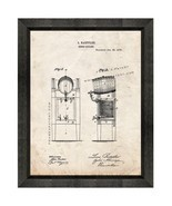 Beer Cooler Patent Print Old Look with Beveled Wood Frame - $24.95 - $109.95