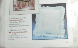 """White Open Lace Pillow Needlepoint Artcraft Concepts 14"""" x 14"""" Unopened - $14.50"""