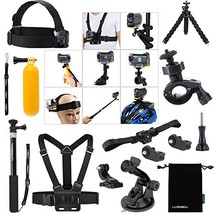 Luxebell Accessories Bundle Kit for Sony Action Camera Hdr-AS15 AS20 (14... - $32.00