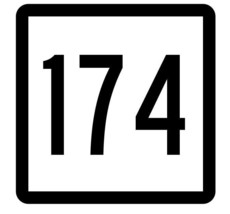 Connecticut State Highway 174 Sticker Decal R5184 Highway Route Sign - $1.45+