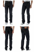 Levi's 501 Men's Original Fit Straight Leg Jeans Button Fly Black 501-5808
