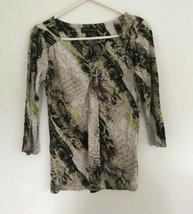 Women's Dana Buchman Shirt Top XS Extra Small Animal Print Summer R5 - $9.89