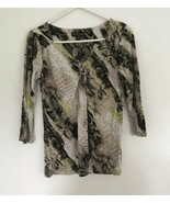 Women's Dana Buchman Shirt Top XS Extra Small Animal Print Summer R5 - $9.89
