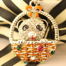 Panda Bear Keychain Animal Crystal Charm Cute Gift Accessory #MCK11 - $18.17