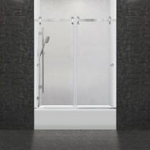 "57 1/2-60""Wx62""H Bathtub Door Bypass Sliding Frameless ULTRA-H Brushed L... - $663.30"