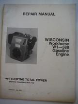Teledyne Total Power Wisconsin Workhorse gas engines W1-588 repair manual (1985) - $12.31