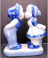 Handpainted Delft Blue Belgium Kissing Couple Figurine - £6.35 GBP
