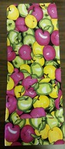Fabric Kitchen Apron with pocket, COLORFUL APPLES, design # 1 - $10.88