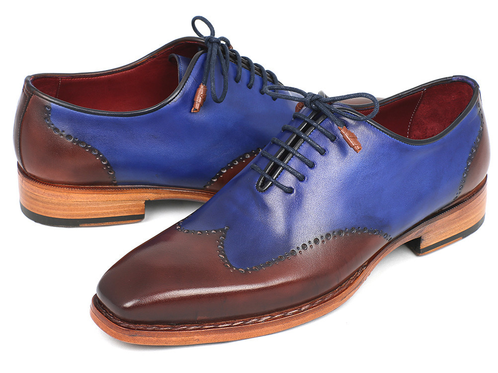 Two Tone Blue Wingtip Shoes
