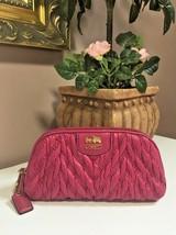 Coach Madison 46592 Chevron Nylon Cosmetic Case Fuchsia Pink M4 - $58.79