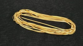 "LOT OF 12 - Gold Plated 7 1/2"" Korea Gold Chain Links Necklaces NEW - $13.88"