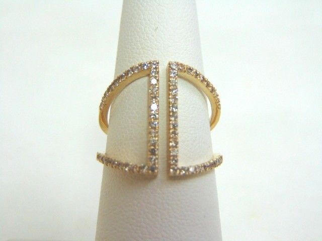 Women's 14K Yellow Gold Diamond Ring 3.5g E3509