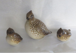 Howard Pierce 3 Bird Figurines Modern Signed Joshua Tree Art Pottery Mid... - $45.53