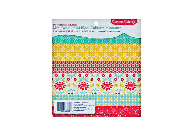 Cosmo Cricket 6x6 Inch Baby Jane Paper Pad, 36 Single-Sided Pages