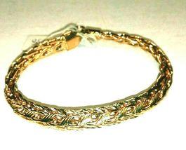 WOMENS PURE 925 SILVER BRACELET REAL GOLD POLISH GENUINE EXCELLENT ORIGI... - $136.49