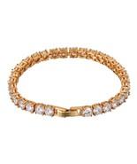 Iced Out Bracelet BFF Men's Iced Zircon Tennis Bracelet Hip Hop Jewelry ... - $23.84