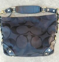 Coach Carly Woven Jacquard Signature Shoulder Bag M0773-10819 Black AUTH... - $68.31