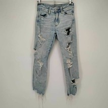 American Eagle Outfitters Womens Next Level Slim Skinny Jeans Blue Distr... - $19.24