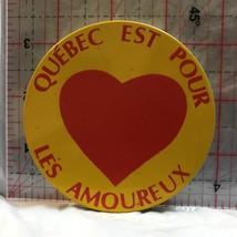 Quebec Est Pour Les Amoureuk Heart  Novelty Button Badge BS - $5.10