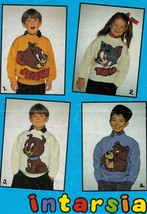 Child Adult Intarsia Tom & Jerry Spike Tyke Knit Sweater Pattern 24-40  - $12.99