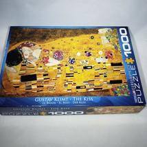 Gustav Klimt The Kiss 1000 Piece Jigsaw Puzzle Eurographics EUC Complete - $21.95