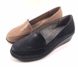 Aerosoles True Match Round Toe Low Wedge Slip On Loafers Choose Sz/Color - $59.00+