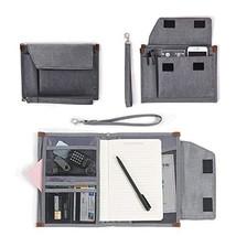 Portfolio Folder & Briefcase Organizer Holder with A4 Paper Resume for M... - $24.44