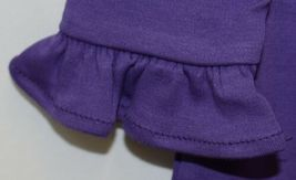 Blanks Boutique Purple Long Sleeve Empire Waist Ruffle Dress Size 18M image 3
