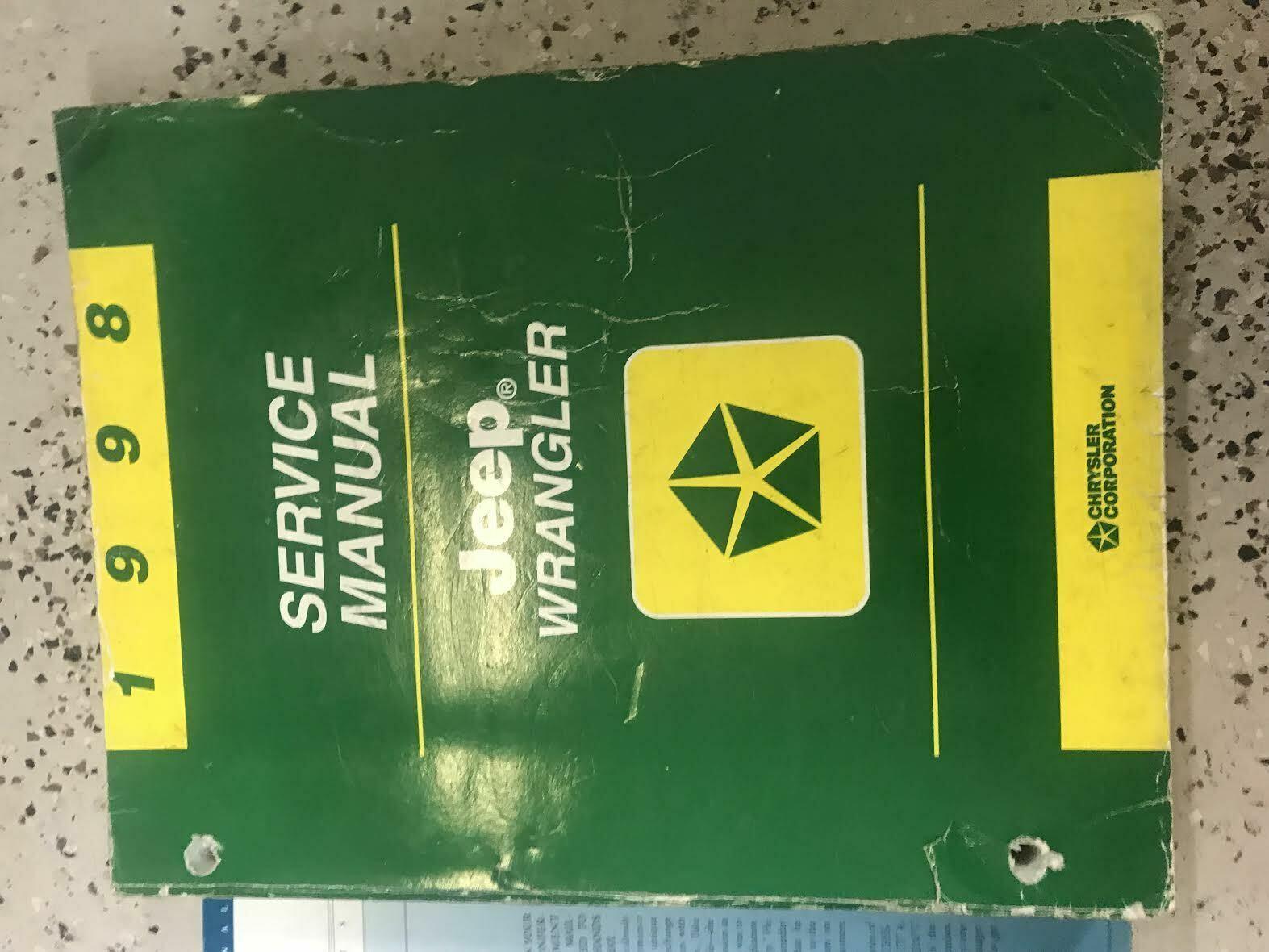 1998 JEEP WRANGLER Service Workshop Shop Repair Manual Set W Extra OEM image 2