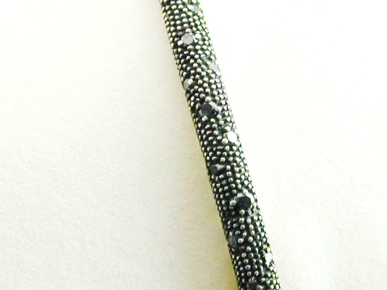 David Yurman Sterling Diamond Midnight Melange Bangle Bracelet RETIRED image 3